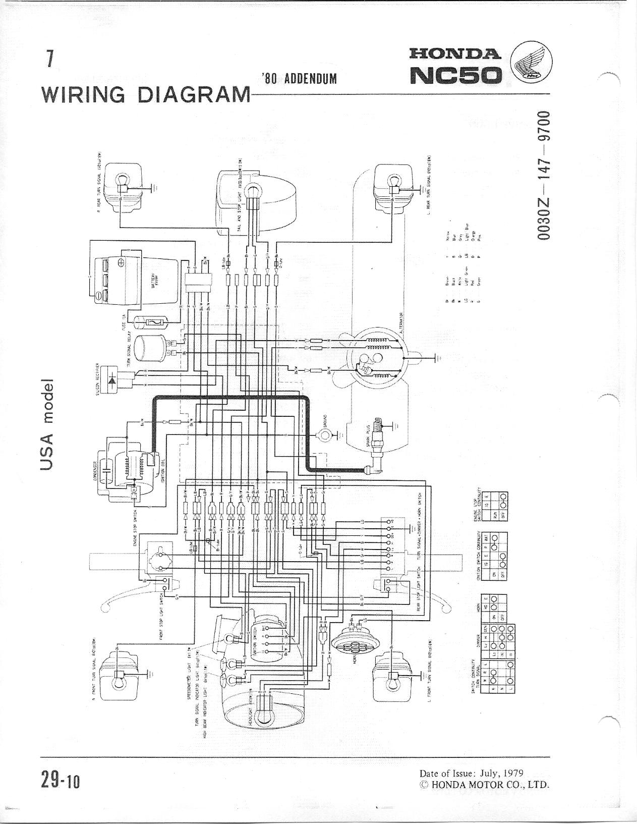 1980 Honda Express Nc50 Wiring Diagram Diagrams Xr50r On Pa50 Rh 107 191 48 154