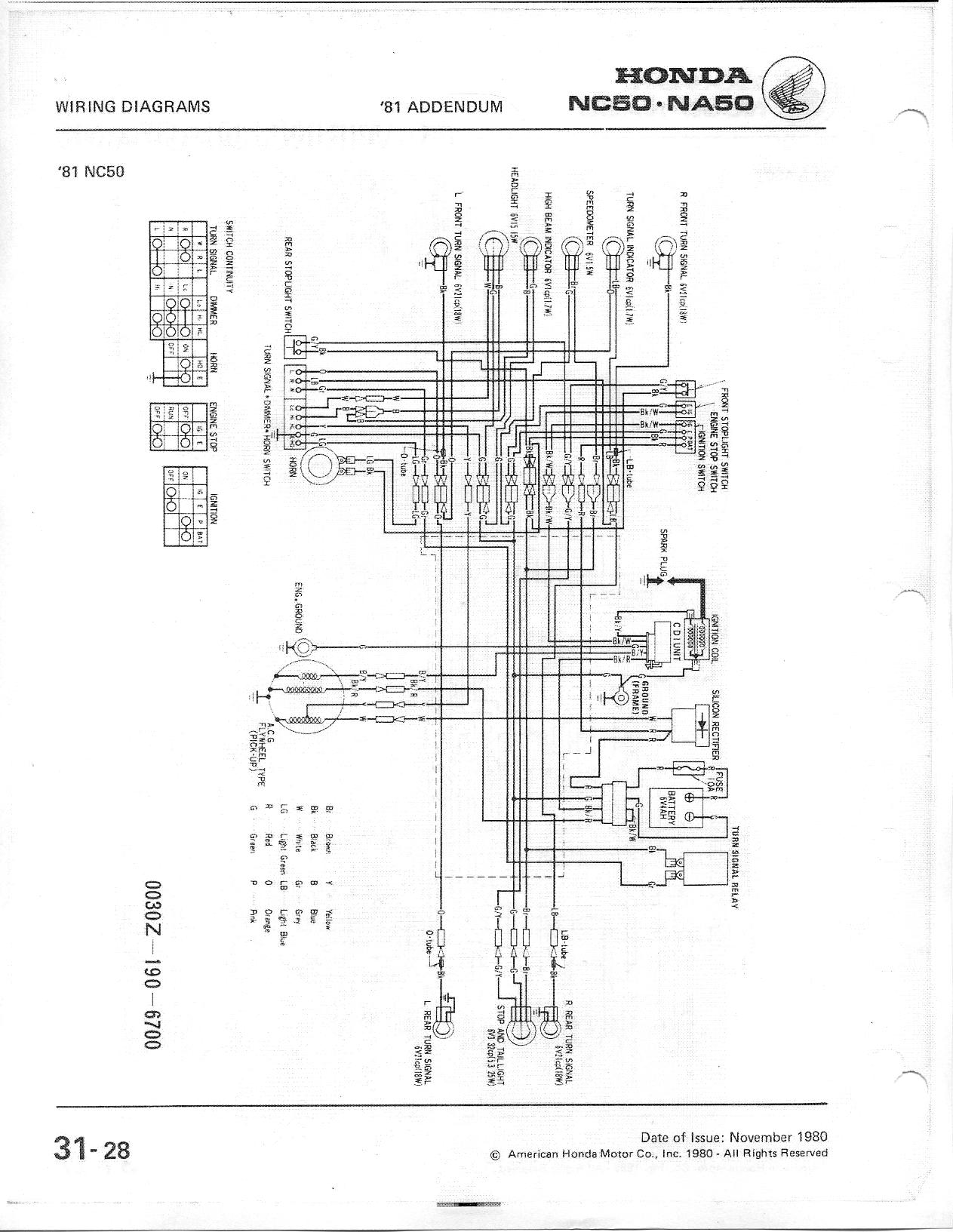 Honda Nc50 Wiring Diagram : Members area